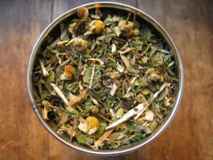 Feverfew tea mixture